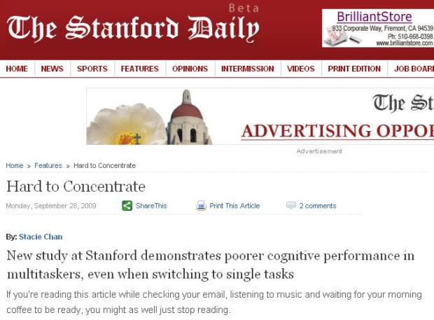 The Stanford Daily article